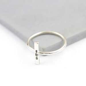 Sterling Silver Vertical Bar Ring