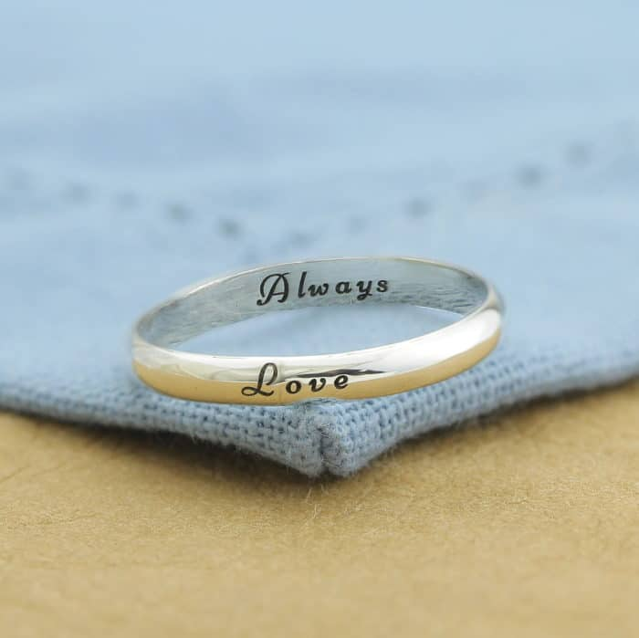 Sterling Silver Engraved Ring