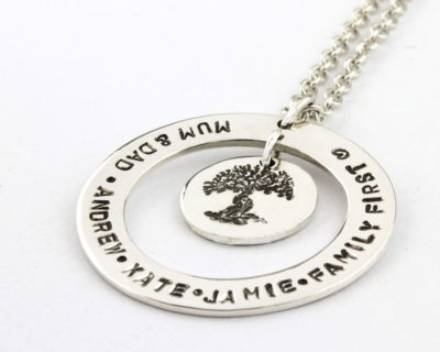 Sterling Silver family Tree Necklace 3