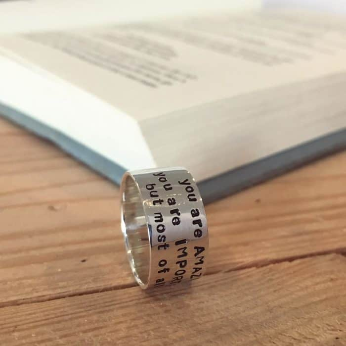 Sterling Silver Story Ring