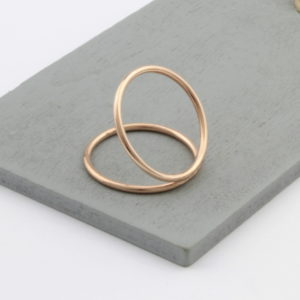 Rose Gold Plated Parallel Ring 2