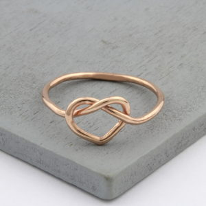 Rose Gold Vermeil Heart Knot Ring