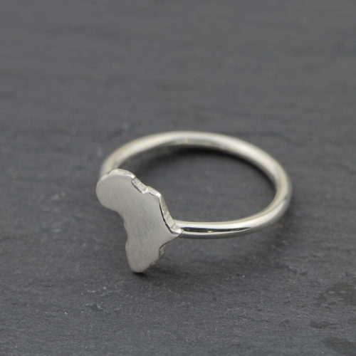 Sterling Silver Africa Ring