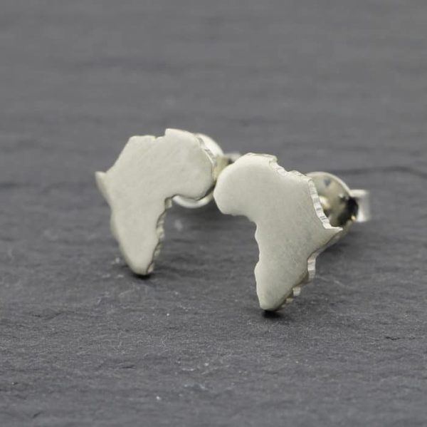 Sterling Silver Africa Stud earrings
