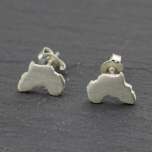 Sterling Silver stud earrings of africa south africa