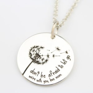 Dandy Lion Necklace with engraved text 23