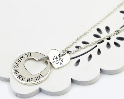 Sterling Silver Cutout Heart Necklace