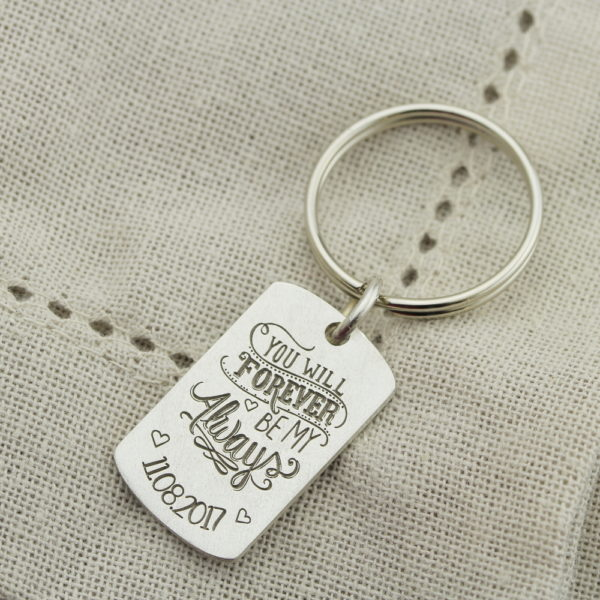 Sterling Silver Forever And Always Keychain Buy Online From Silvery Sa