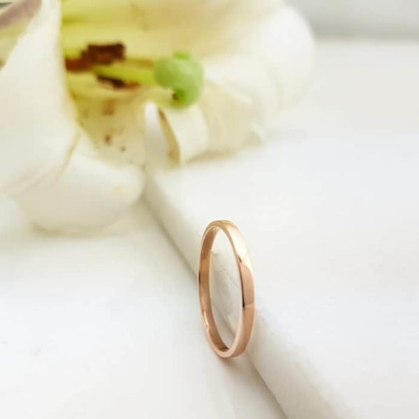 9kt Rose Gold Wedding Band