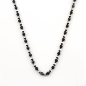 Black and Silver bead Necklace