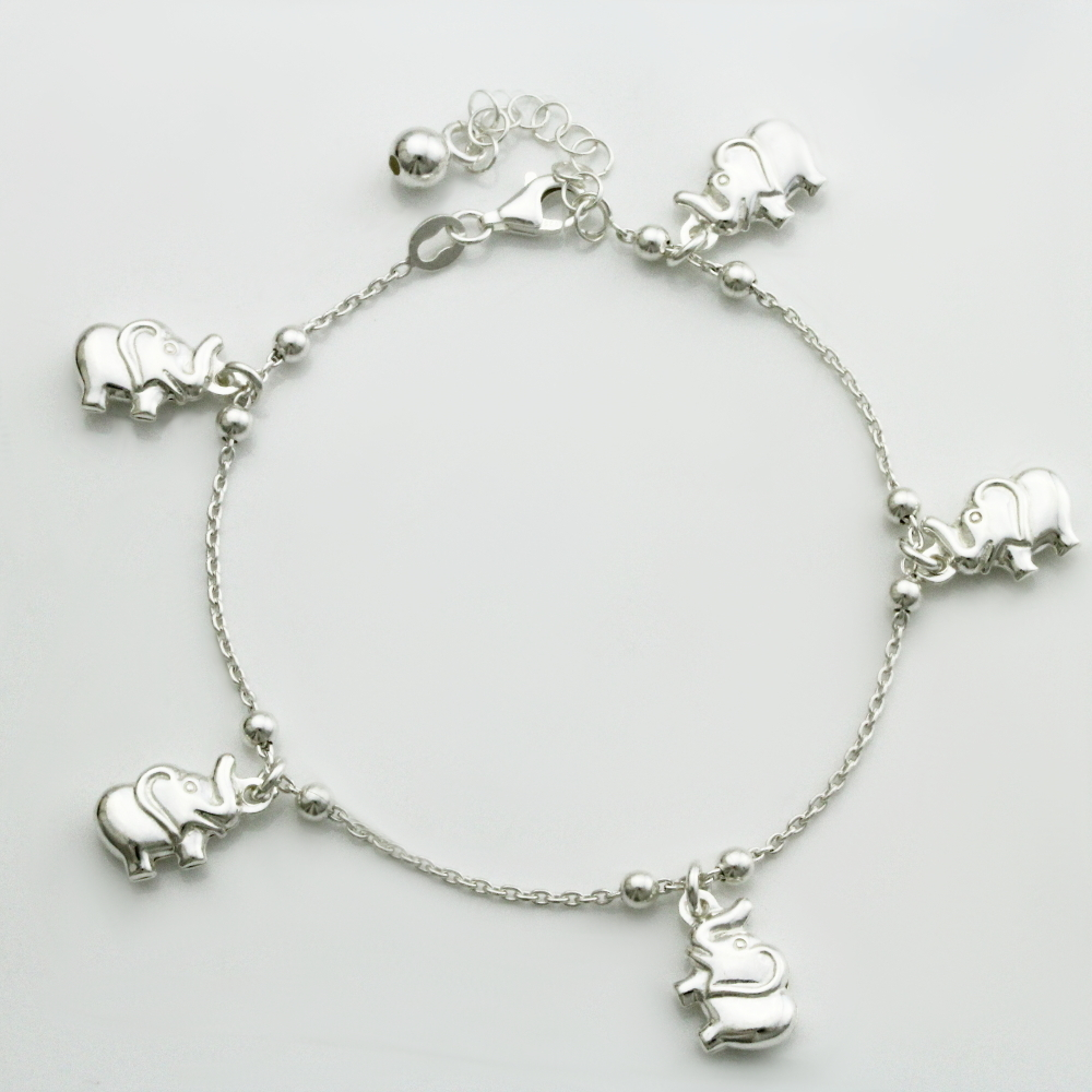 elephant plated multi shop crystals bracelet b gold and color charm
