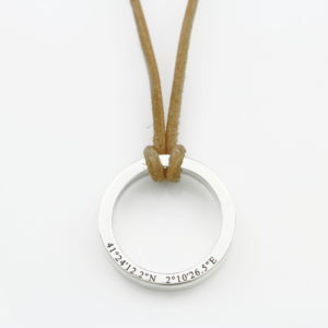Leather Washer Necklace
