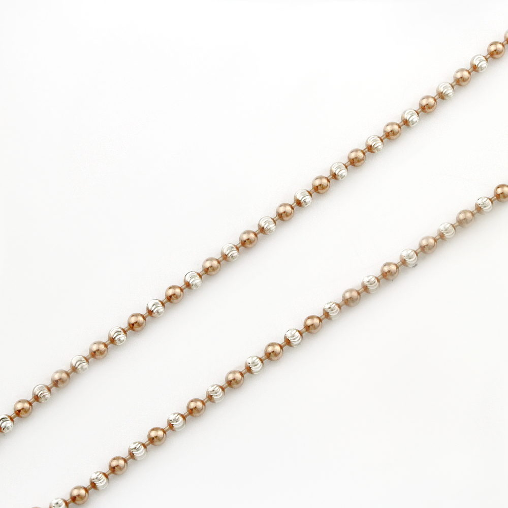 Rose Gold & Silver Bead Necklace 1