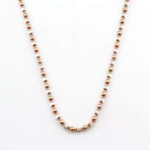 Rose Gold & Silver Bead Necklace