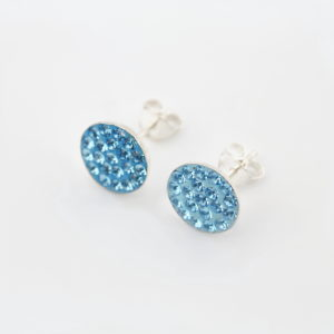 Round Crystal Glass Stud Earring 1
