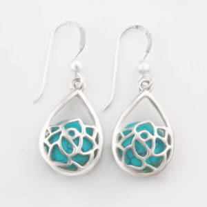 Turquoise tear dangle earrings