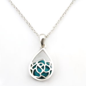 Turquoise tear dangle necklace