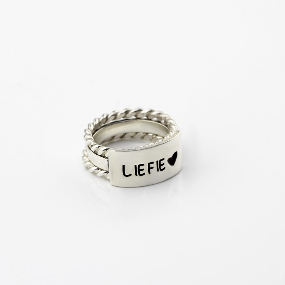 personalised stack ring