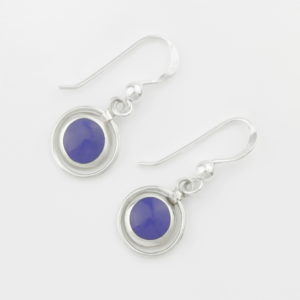 Dangle Stone & Circle Earrings 2