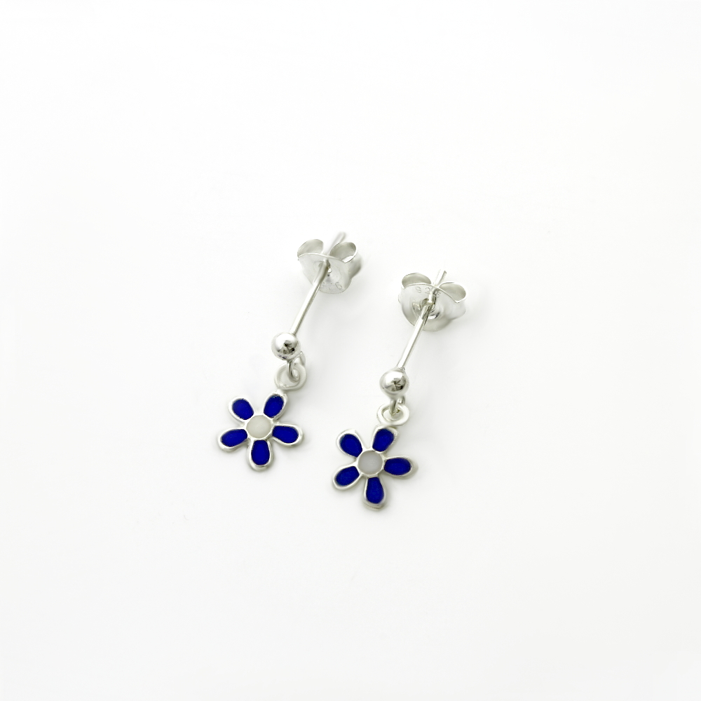 Colourful Daisy Enamel Dangle Earring