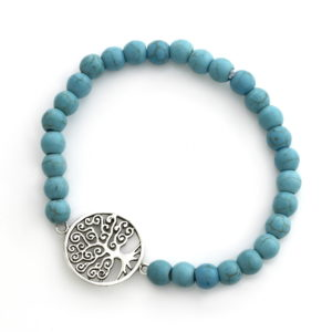 Curly Tree Of Life Turquoise Bead Bracelet