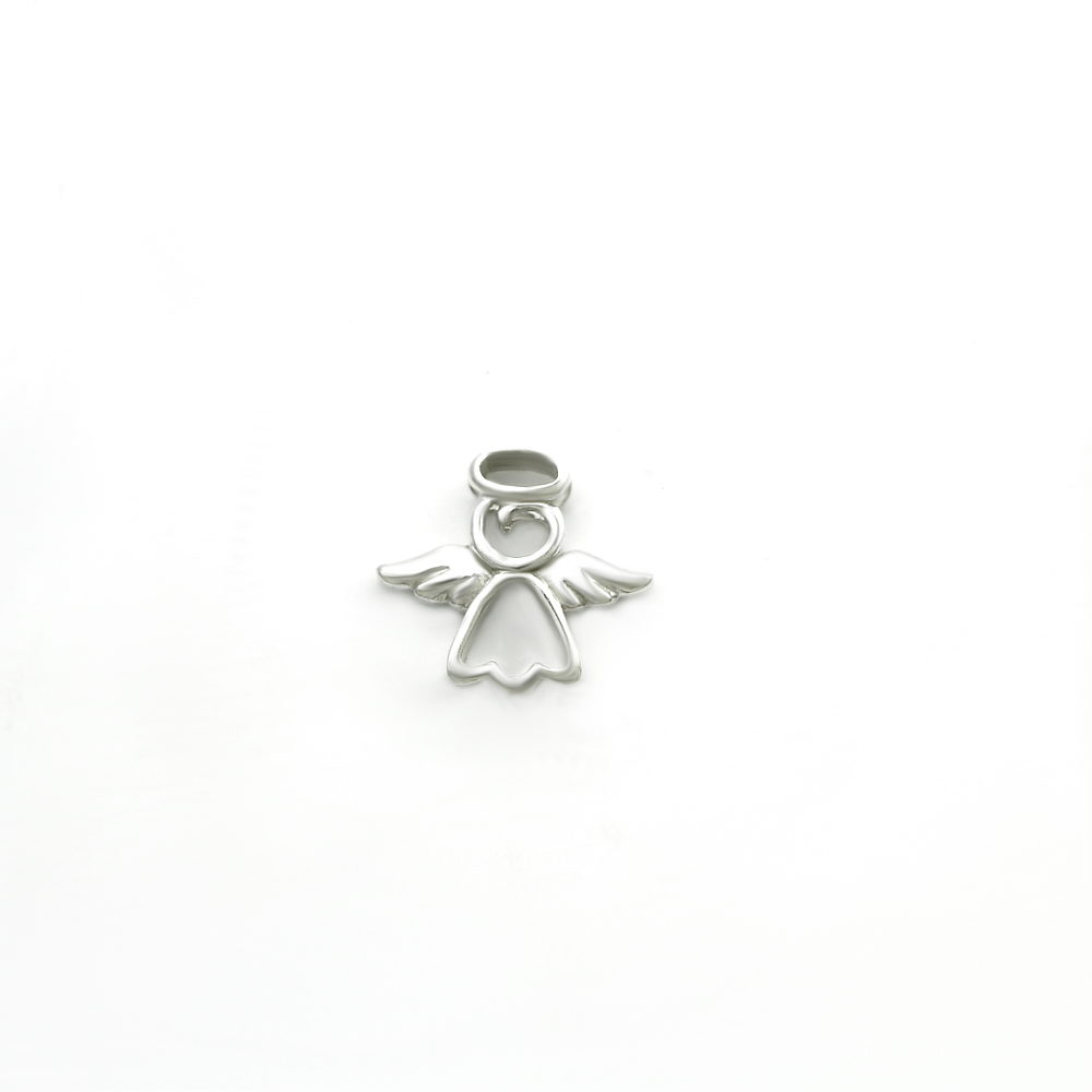 Dainty Angel Outline Pendant