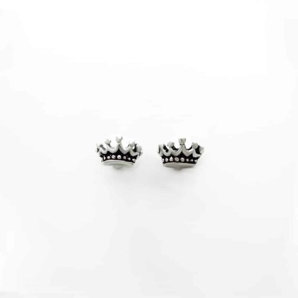 Dainty Crown Stud Earrings