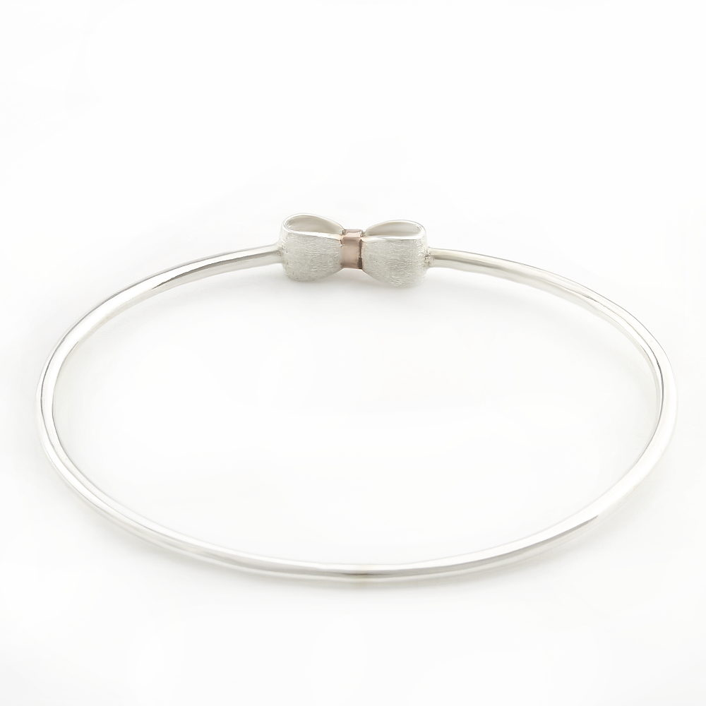 Sterling Silver Bow Bangle South Africa