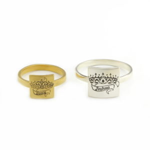 His & Hers Crown Rings Set 1