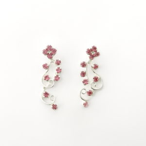 Twirly Crystal Climber Earrings