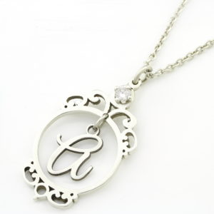 amulet initial cubic zirconia necklace South Africa