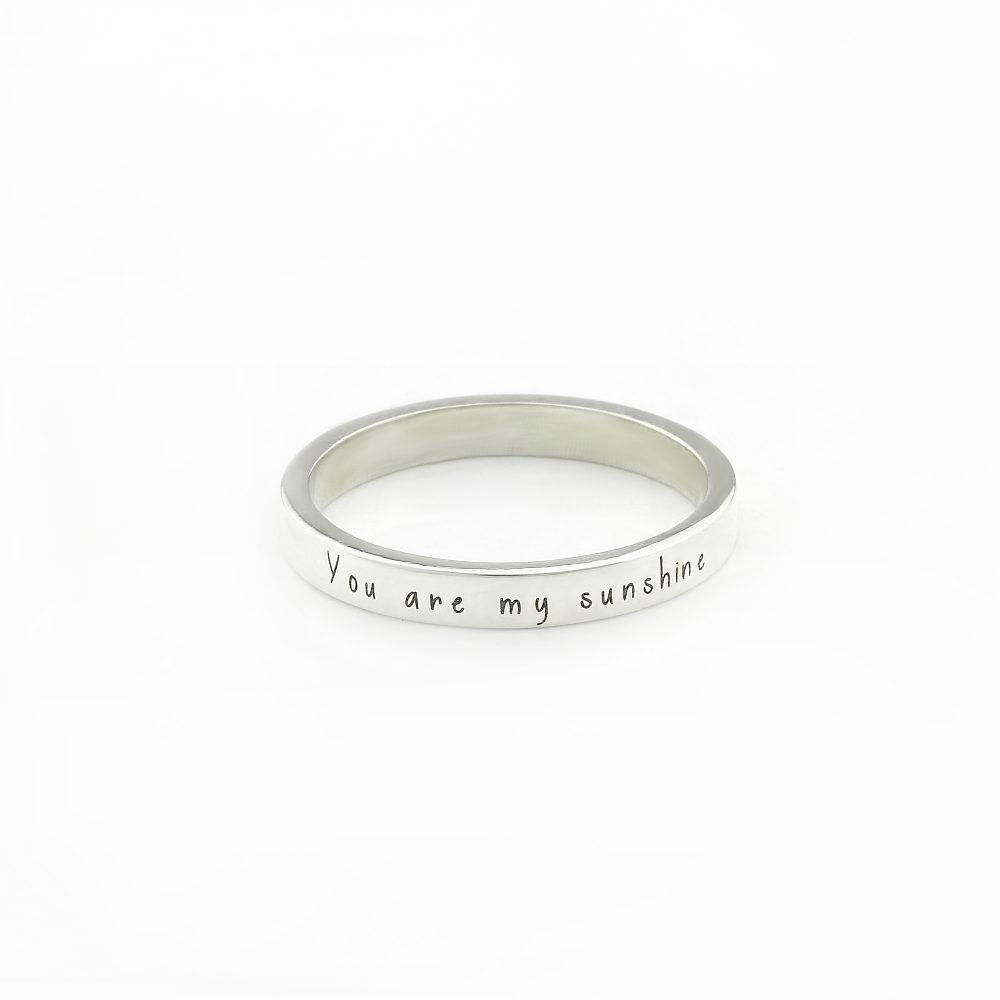 Bold Plain Engraved Band Durban Silvery
