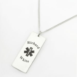 Medical Alert Necklace - Male Durban Jewellery