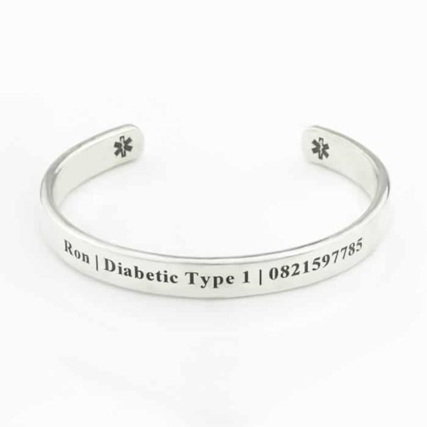 MenS Medical Cuff Bangle South Africa Silvery