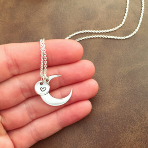 Moon & Coin Charm Necklace