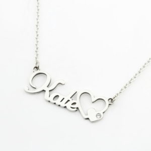 Name Necklace With Diamond