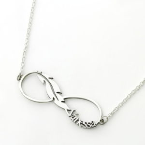 Feather Name Necklace