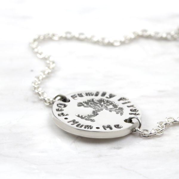 Personalised Bracelet Family Tree Bracelet Silvery Jewellery