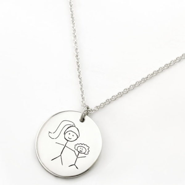 Kids Drawing Coin Pendant Necklace Jewellery South Africa