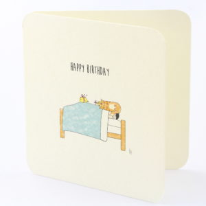 bamboo birthday card cat love