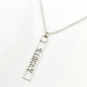 Name Cutout Necklace Silvery