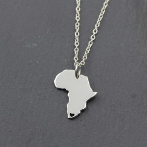 Africa Heart Necklace