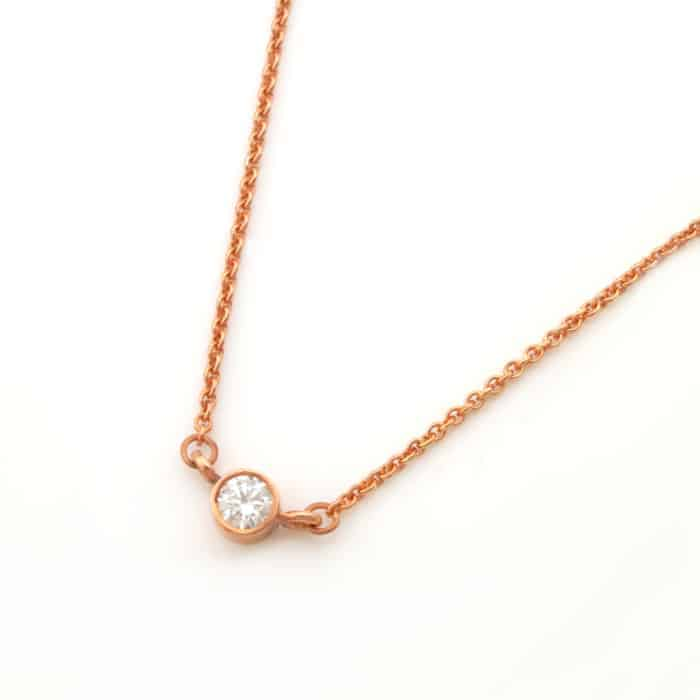Dainty Cubic Zirconia Connector Necklace