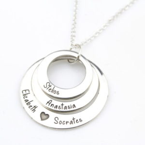 Engraved Family Name Necklace