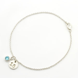 18th birthday bracelet & birthstone durban