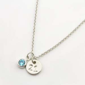 21st Birthday Coin & Birthstone Necklace Durban