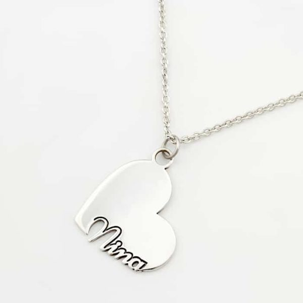 Heart Name Necklace Durban Jewellery