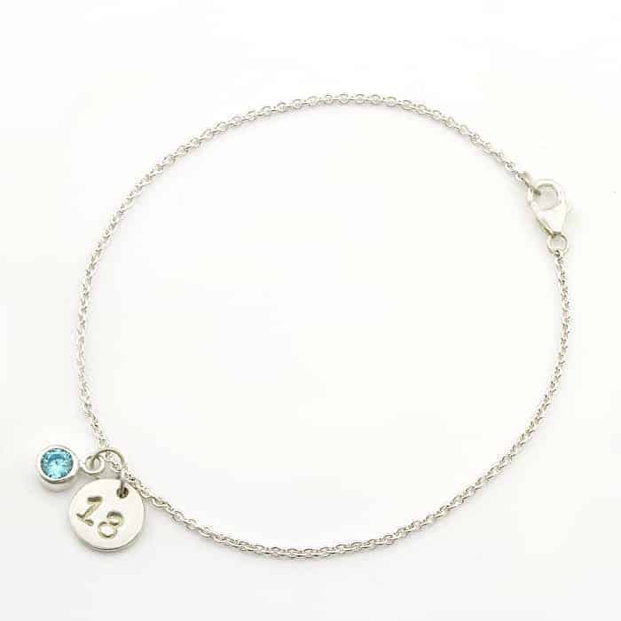 Personalised Birthday Gifts Swarovski Bracelet Birthstone And Coin South Africa