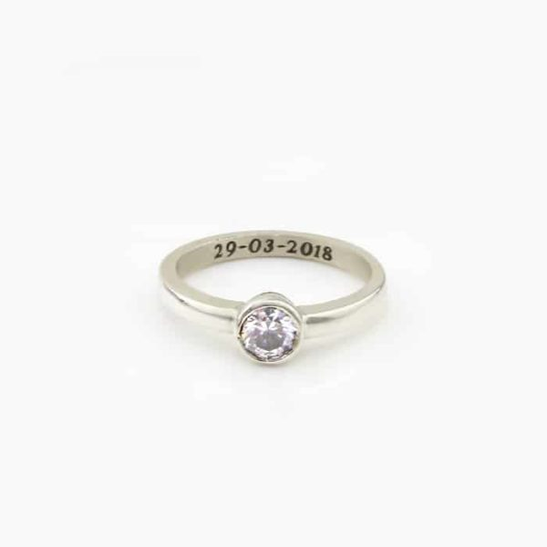 Round Cubic Zirconia Halo Ring SA jewellery