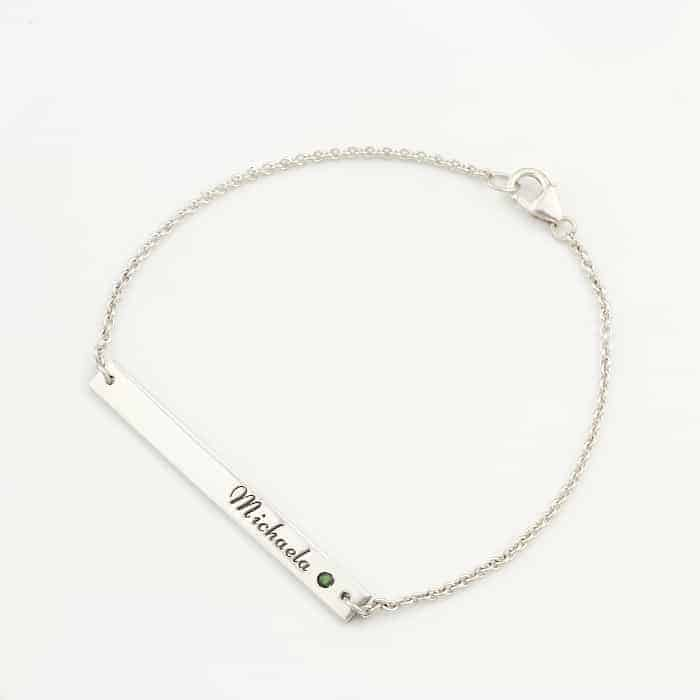 The Rainbow Collection - Skinny Bar Bracelet Silvery